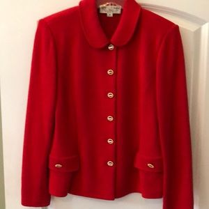 St. John red jacket w/ gold buttons size 6